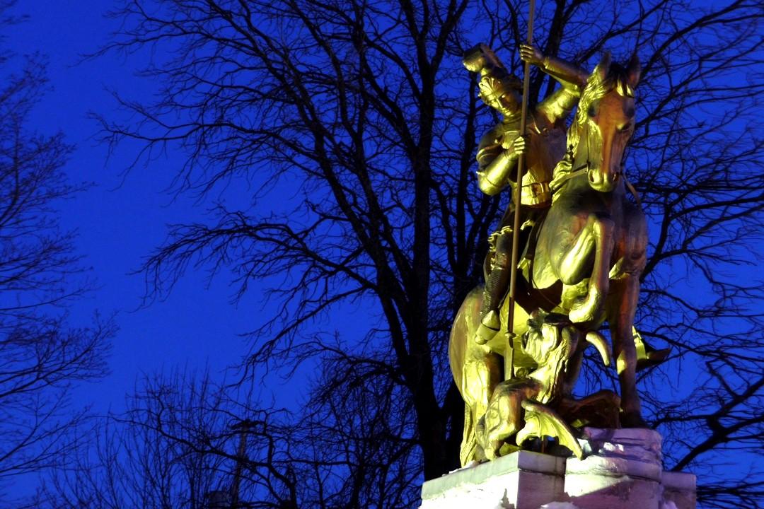 Statue équestre - Chevalier Saint-Georges