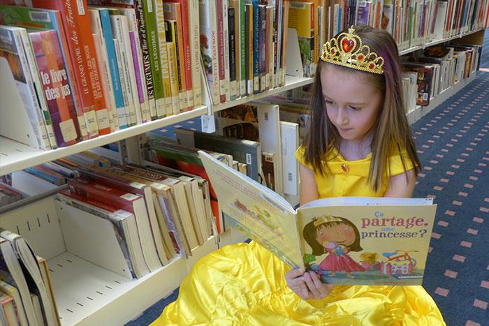 bibliothèque conte princesse